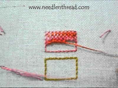 Trellis Stitch for Hand Embroidery