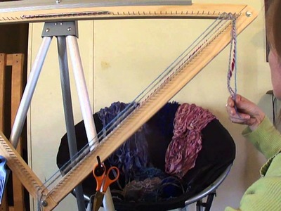 Triangle Loom Cut Strand Weaving