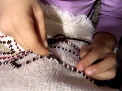 6 YEAR OLD child does Swedish weaving