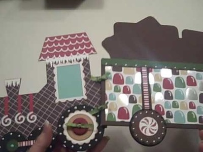 Gingerbread Train Card or Photo Holder