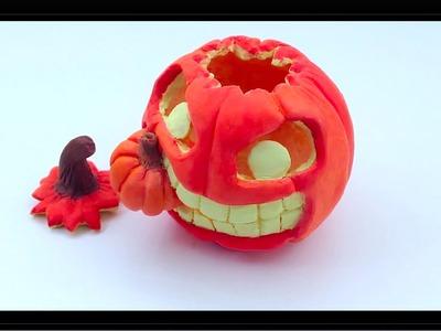 Halloween Series 2013: Polymer Clay Pumpkin Tutorial ♥