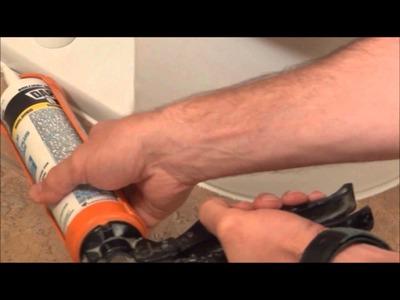 How a Pro Caulks a toilet