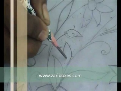 How to do Zari Embroidery Step 1