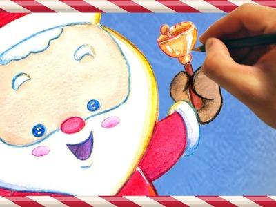 How to Draw Santa Claus - Christmas Kawaii