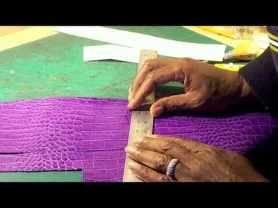 How to make a designer handbag. Purple Collar