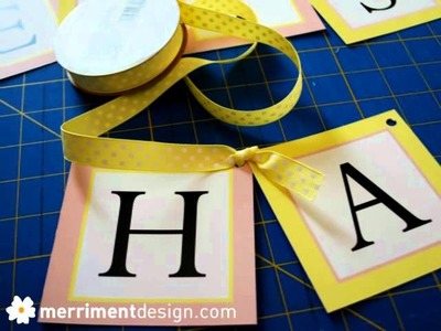 How to make a hanging Happy Birthday sign {plus free printable}