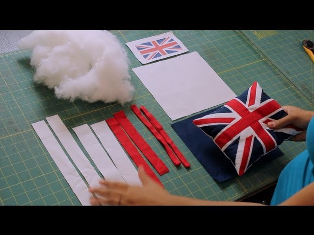 How to Make a Union Jack British Flag Pillow