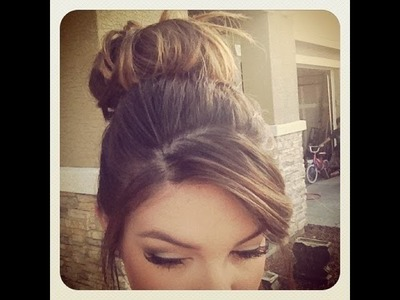 How to: Messy Bun for short.thin hair ♡