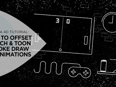 How to Offset Sketch & Toon Stroke Draw On Animations in Cinema 4D
