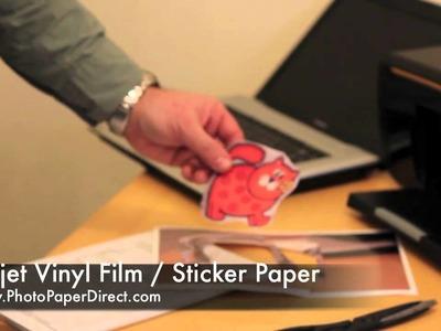 Inkjet Vinyl Film. Sticker Paper By Photo Paper Direct