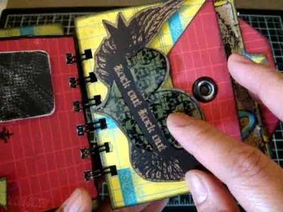 Mini-book using Tim Holtz and Prima