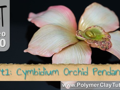 Sculpted Polymer Clay Cymbidium Orchid Pendant (Intro)