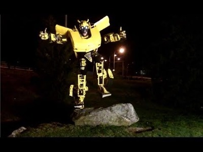 """Transforming Bumblebee Costume """"agility test"""" (episode 14)"""