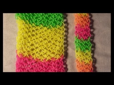 Twisted Dragon Scale cuff or Bracelet on the bracelet on the Rainbow loom