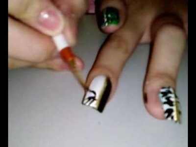 Two-toned zebra nail tutorial