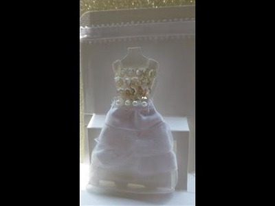 Wedding Card using Dress Form from Stampin Up