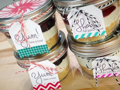 Decorating No Bake Cheesecake in a Jar with Jenn!