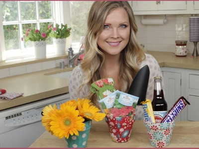 DIY Fabric Covered Flower Pots!!