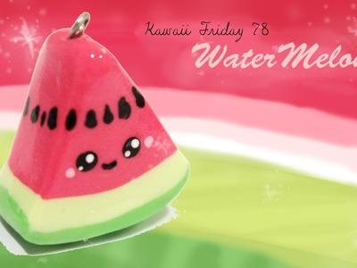 ◕‿‿◕Watermelon! Kawaii Friday 78 - Tutorial in Polymer clay!