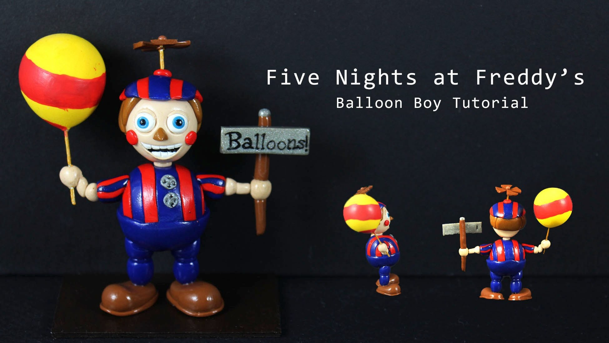 Five Nights at Freddy's 2 Balloon Boy Polymer Clay Tutorial