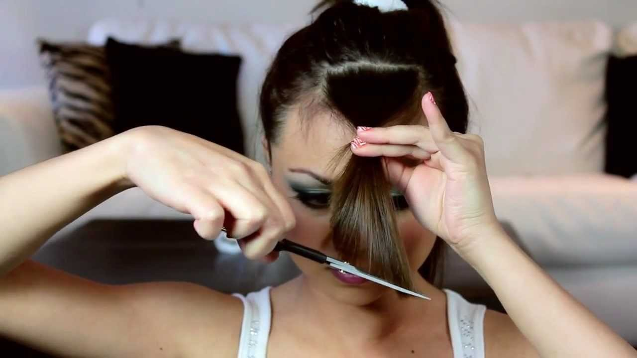How to Cut Perfect Side Swept Bangs at Home