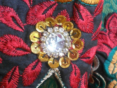 HOW TO DECORATE A SALWAR WITH SEQUINS,CUP CHAIN ,&KUNDAN STONE