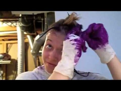 How to Dye the Underneath of Your Hair Purple