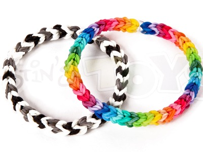 How to make a Classic Single Double Capped.Looped Rainbow Loom Bracelet