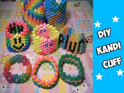 How to Make a Kandi Cuff - [www.gingercande.com]