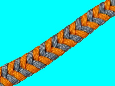 How to make a Two Color Fishtail without Joining or Splicing Tutorial (Paracord 101)