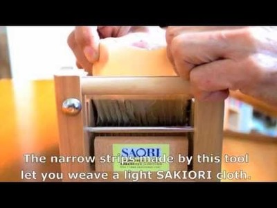 How to use SAORI Fabric Cutter ver.120603