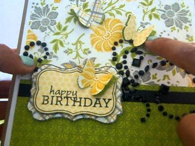 Lemon Flower Birthday Card and LO using Scraps :)