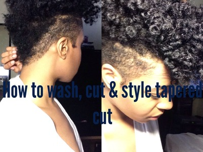 Let's Talk Hair | How I Wash, Shape & Style my Tapered Cut