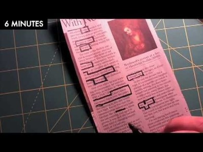 Making a newspaper blackout poem (time-lapse video)
