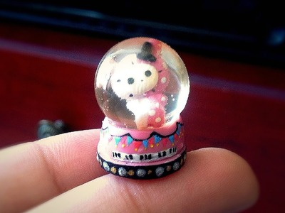 Miniature Polymer Clay and Resin Snow Globe Tutorial