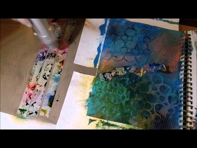New Art Journal Page - Inking Masking Tape for Texture