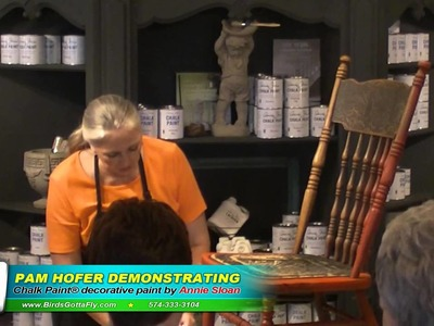 Painting Demo Vintage Furniture with Chalk Paint (r)