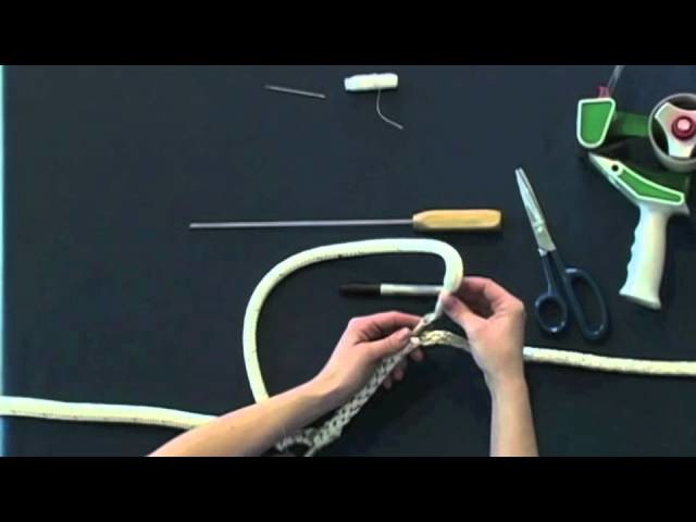 Part 1 How to Make Horse Lead Rope or Marine Spliced Loop - Class 1 Double Braid Eye Splice