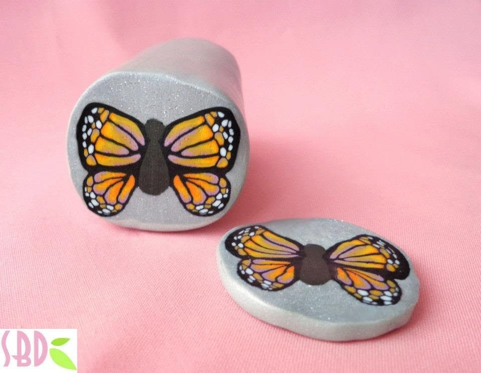 Polymer clay: millefiori cane butterfly - ENG Series