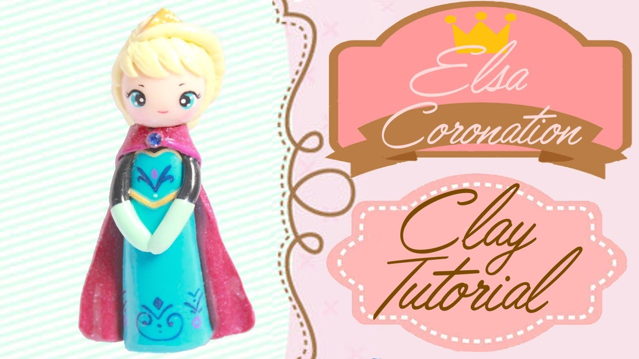 Queen Elsa Coronation Gown Chibi | Polymer Clay Tutorial
