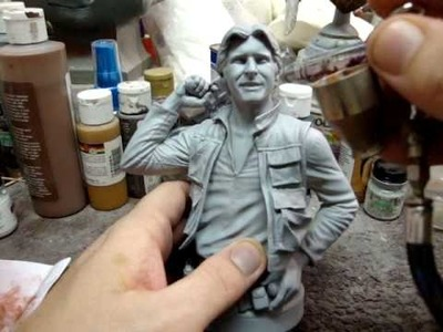 Resin Kit Painting- Han Solo Bust tutorial part 1
