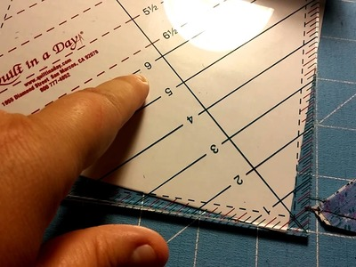 6 1.2 Triangle Square Up Ruler by Quilt in a Day