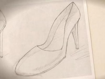 A guide to drawing a shoe
