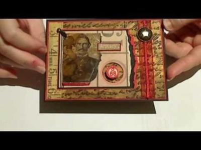 Civil war card using Distress ink and Moonshadow mist