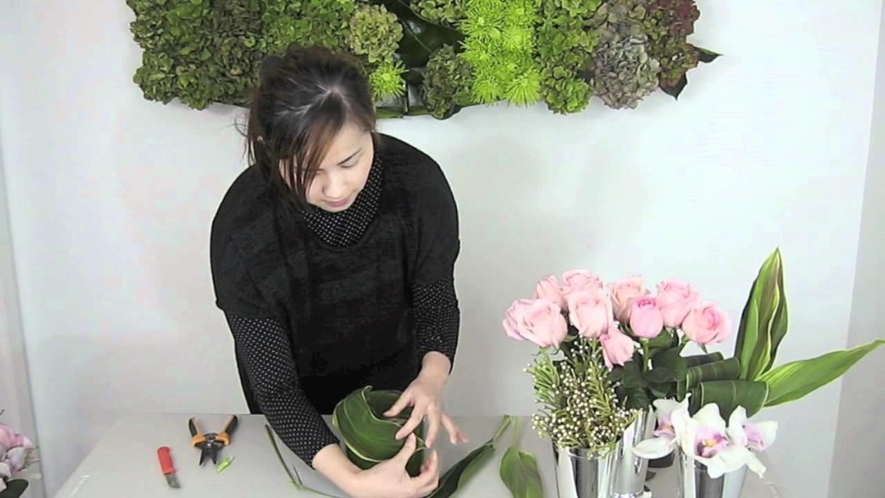 How To Make A Beautiful Pink Themed Flower Arrangement