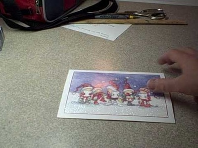 How to make a box out of a greeting card (Recycling Christmas Cards)