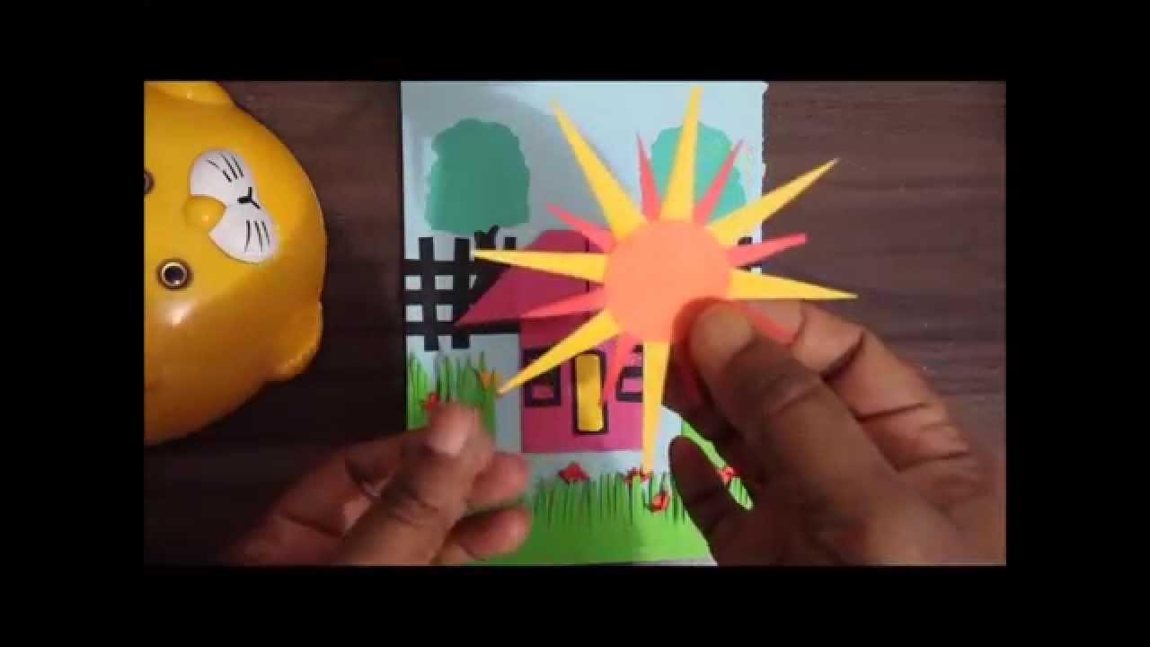 How to make a paper folding greeting card