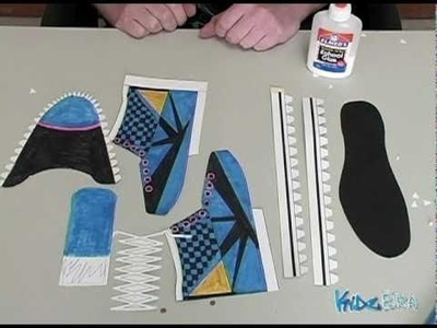 How to make a paper shoe