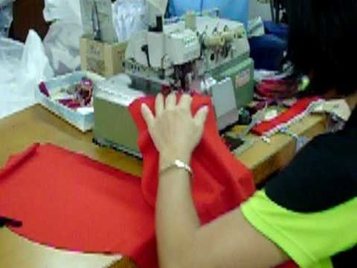 How to Sew a Cuff (Grip) onto a Polo Shirt - Maxtex.com.my - Apparel Manufactoring - Factory Video