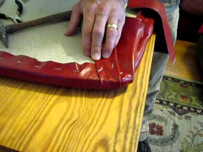 How to Upholster a Chair Seat, Part #3: stapling corners and resembling